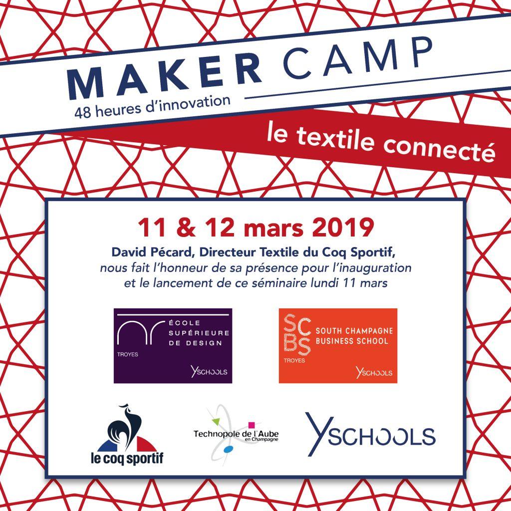 Maker Camp 2019 - Le Coq Sportif Y SCHOOLS Technopole de l'Aube en Champagne