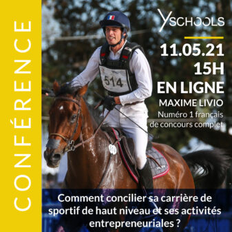 Conférence de Maxime Livio, numéro 1 français de concours complet en équitation, le 11 mai 2021