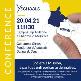 Conférence «Société à mission, le pari des entreprises ardennaises» le 20 avril 2021 à Charleville-Mézières
