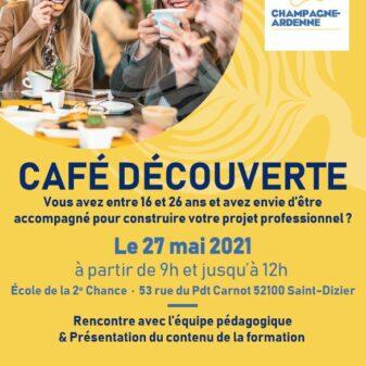 Venez rencontrer l'E2C Champagne Ardenne, site de St Dizier, lors des cafés découvertes – Edition 2021