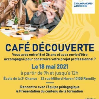 1ère édition du café découverte pour l'E2C Champagne Ardenne, site de Romilly-sur-seine le 18 mai prochain