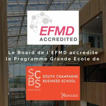 Première accréditation internationale pour SCBS – South Champagne Business School !