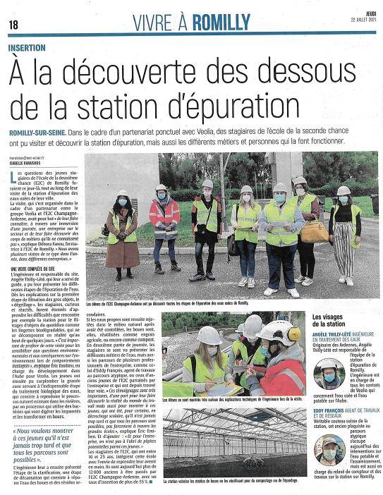 Visite à Véolia pour les stagiaires du site de Romilly-sur-seine