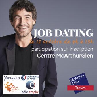 RDV le 12 octobre pour un nouveau Job Dating McArthurGlen !